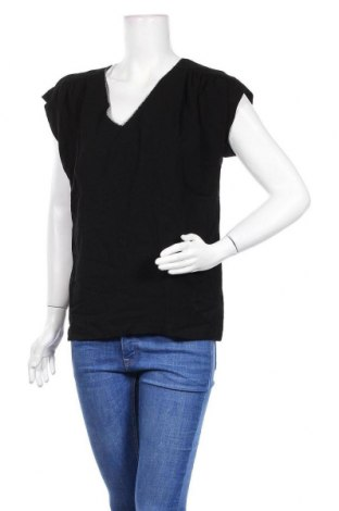 Дамска блуза La Petite Francaise, Размер M, Цвят Черен, Вискоза, Цена 14,76лв.