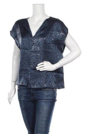 Дамска блуза Lauren Vidal, Размер XXL, Цвят Син, Коприна, Цена 73,10лв.