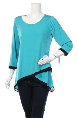 Γυναικεία μπλούζα Ny Collection, Μέγεθος M, Χρώμα Μπλέ, 96% πολυεστέρας, 4% ελαστάνη, Τιμή 7,27€