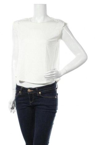 Γυναικεία μπλούζα ONLY, Μέγεθος M, Χρώμα Εκρού, 85% βισκόζη, 10% λινό, 5% ελαστάνη, Τιμή 5,41€
