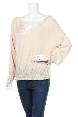 Дамска блуза Une Saison a Paris, Размер M, Цвят Бежов, 97% полиестер, 3% еластан, Цена 11,00лв.
