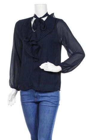 Дамска блуза Une Saison a Paris, Размер M, Цвят Син, 95% полиестер, 5% еластан, Цена 11,00лв.