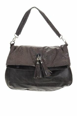 Дамска чанта, Цвят Сив, Еко кожа, текстил, Цена 21,32лв.