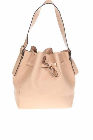 Дамска чанта, Цвят Бежов, Еко кожа, Цена 21,84лв.