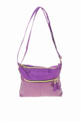 Дамска чанта, Цвят Лилав, Текстил, еко кожа, Цена 16,17лв.