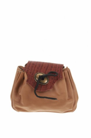 Γυναικεία τσάντα, Χρώμα  Μπέζ, Γνήσιο δέρμα, Τιμή 18,41€