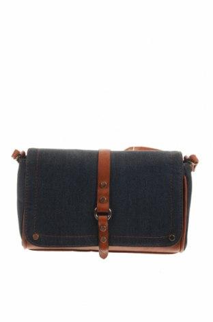 Дамска чанта, Цвят Син, Текстил, еко кожа, Цена 21,42лв.