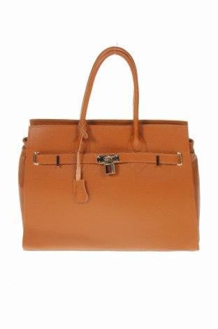 Дамска чанта, Цвят Кафяв, Естествена кожа, Цена 77,70лв.