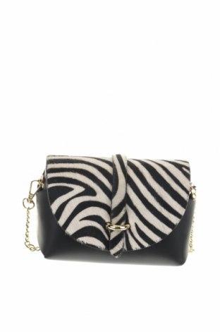 Дамска чанта Abaco, Цвят Черен, Естествена кожа, естествен косъм, Цена 94,17лв.