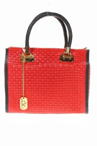 Дамска чанта Anna Morellini, Цвят Червен, Естествена кожа, Цена 206,17лв.