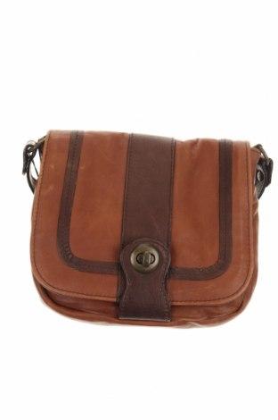 Дамска чанта Aridza Bross, Цвят Кафяв, Естествена кожа, Цена 164,25лв.
