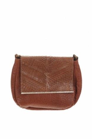 Дамска чанта Aridza Bross, Цвят Кафяв, Естествена кожа, Цена 111,65лв.