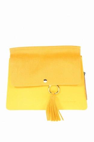 Γυναικεία τσάντα Beverly Hills Polo Club, Χρώμα Κίτρινο, Δερματίνη, κλωστοϋφαντουργικά προϊόντα, Τιμή 17,64€