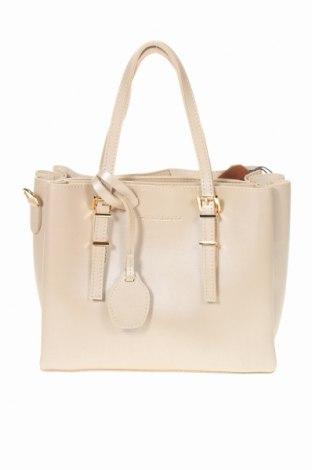 Γυναικεία τσάντα Beverly Hills Polo Club, Χρώμα  Μπέζ, Δερματίνη, Τιμή 27,69€