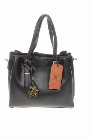 Дамска чанта Beverly Hills Polo Club, Цвят Черен, Еко кожа, Цена 47,40лв.
