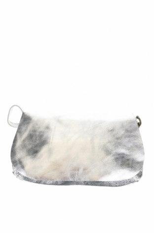 Дамска чанта Chattawak, Цвят Сребрист, Естествена кожа, Цена 74,25лв.