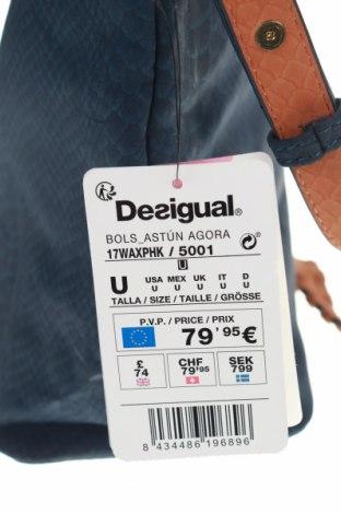 Дамска чанта Desigual, Цвят Син, Еко кожа, Цена 45,87лв.