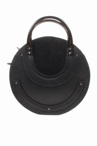 Дамска чанта Isabella Rhea, Цвят Черен, Естествена кожа, естествен велур, Цена 126,75лв.