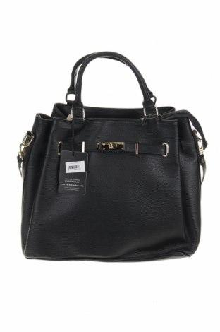 Дамска чанта Isabella Rhea, Цвят Черен, Естествена кожа, Цена 158,67лв.