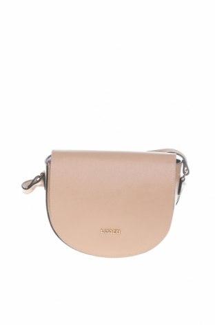 Дамска чанта Lasocki, Цвят Бежов, Естествена кожа, Цена 43,89лв.