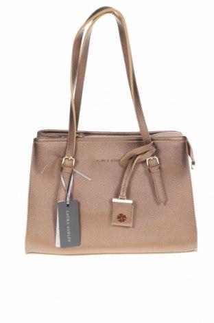 Дамска чанта Laura Ashley, Цвят Кафяв, Еко кожа, Цена 33,12лв.