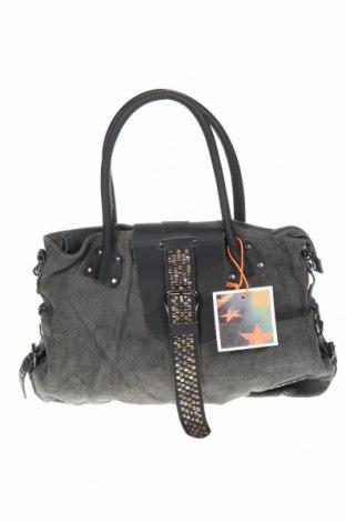 Γυναικεία τσάντα Le Temps Des Cerises, Χρώμα Γκρί, Κλωστοϋφαντουργικά προϊόντα, γνήσιο δέρμα, Τιμή 33,17€
