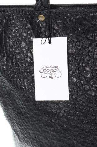 Дамска чанта Le Temps Des Cerises, Цвят Черен, Еко кожа, Цена 59,25лв.