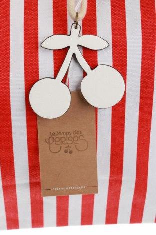 Дамска чанта Le Temps Des Cerises, Цвят Червен, Текстил, еко кожа, Цена 31,05лв.
