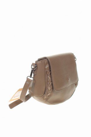 Дамска чанта Le Temps Des Cerises, Цвят Кафяв, Еко кожа, Цена 22,05лв.