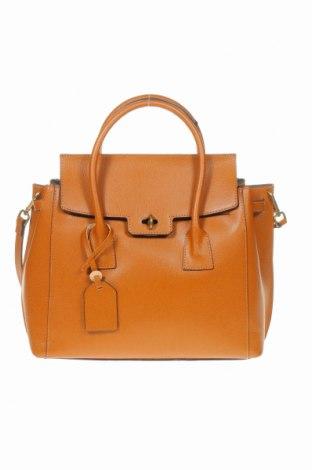 Дамска чанта Luisa Vannini, Цвят Кафяв, Еко кожа, Цена 239,25лв.