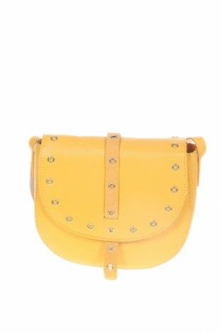 Дамска чанта Manoukian, Цвят Жълт, Еко кожа, Цена 111,75лв.