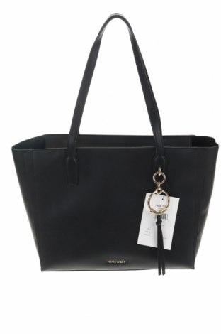 Дамска чанта Nine West, Цвят Черен, Еко кожа, Цена 121,68лв.