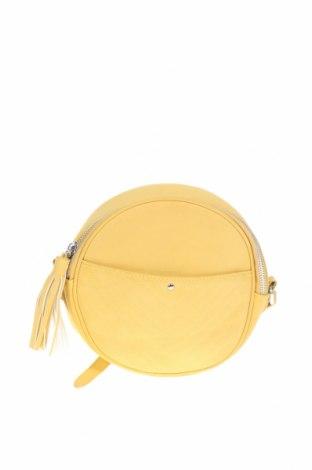 Дамска чанта Promod, Цвят Жълт, Еко кожа, Цена 11,55лв.