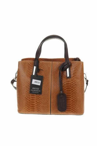 Γυναικεία τσάντα Roberta M., Χρώμα  Μπέζ, Γνήσιο δέρμα, Τιμή 70,18€