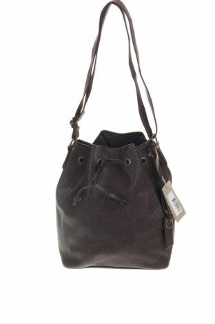 Дамска чанта Timberland, Цвят Кафяв, Естествена кожа, Цена 71,50лв.
