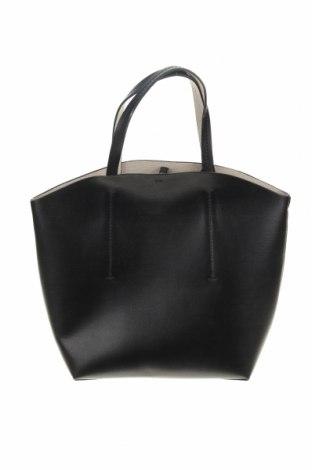 Γυναικεία τσάντα Zara, Χρώμα Μαύρο, Δερματίνη, Τιμή 24,12€