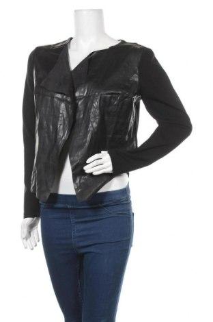 Дамска жилетка 17 & Co., Размер M, Цвят Черен, Текстил, еко кожа, Цена 6,05лв.