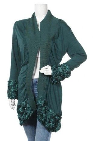 Γυναικεία ζακέτα Effect, Μέγεθος L, Χρώμα Πράσινο, Βισκόζη, ελαστάνη, Τιμή 5,00€
