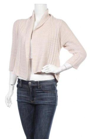 Γυναικεία ζακέτα H&M, Μέγεθος S, Χρώμα  Μπέζ, 68% βαμβάκι, 32% βισκόζη, Τιμή 5,00€