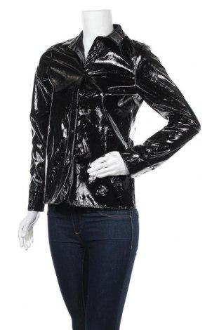 Дамска кожена риза Na-Kd, Размер S, Цвят Черен, Еко кожа, Цена 19,85лв.