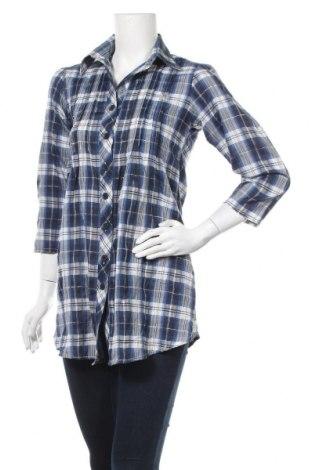 Дамска риза, Размер M, Цвят Син, Памук, Цена 17,85лв.
