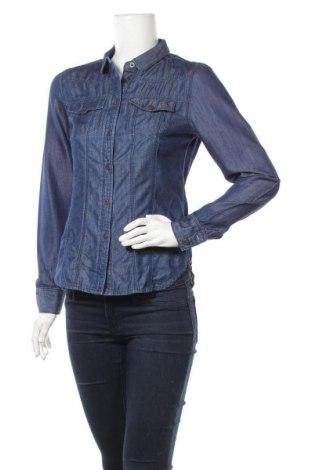 Дамска риза 17 & Co., Размер S, Цвят Син, 58% памук, 42% тенсел, Цена 10,71лв.