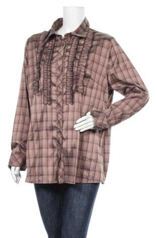 Дамска риза Alvina, Размер XXL, Цвят Кафяв, Полиестер, акрил, еластан, Цена 10,71лв.