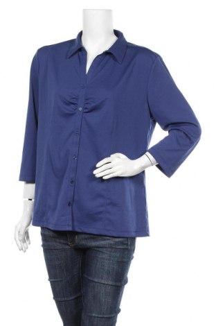 Дамска риза Charles Vogele, Размер XXL, Цвят Син, 100% полиестер, Цена 14,18лв.