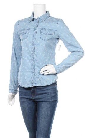 Дамска риза Clockhouse, Размер S, Цвят Син, Памук, Цена 24,99лв.
