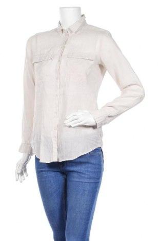Дамска риза Esprit, Размер XS, Цвят Бежов, 56% рамия, 44% памук, Цена 18,75лв.
