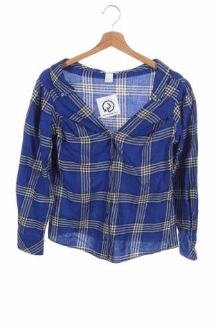 Дамска риза H&M, Размер XS, Цвят Многоцветен, 100% памук, Цена 9,24лв.