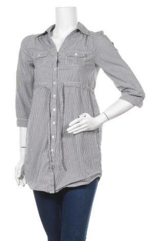 Дамска риза H&M, Размер XS, Цвят Сив, 97% памук, 3% еластан, Цена 10,97лв.