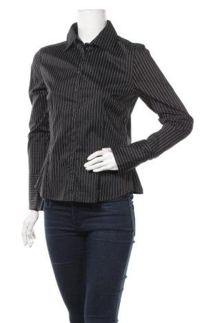 Дамска риза H&M, Размер M, Цвят Черен, 68% памук, 25% полиамид, 4% полиестер, 3% еластан, Цена 7,56лв.