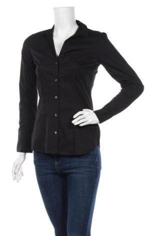 Дамска риза H&M, Размер S, Цвят Черен, 67% памук, 30% полиестер, 3% еластан, Цена 19,95лв.